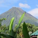 View of the volcano from our deck at Hotel Bijagua.