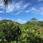View of volcanos from balcny