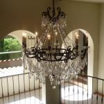 Crystal Chandelier in Stairwell