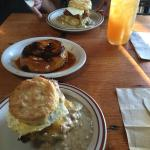 2 Reggie Deluxe biscuits & the Pine State Cinnamon Roll