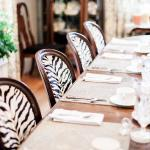 We LOVED these trendy chairs in the dining room!