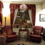 Historic furnishings in lobby