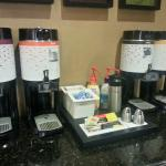 Tea and coffee bar in the lobby