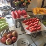 Fruits selection during breakfast