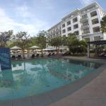 View of the hotel by the pool
