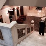 Marble and bronze staircase between lobby and 2nd floor