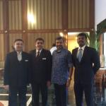 With Sanjit Peter (extreme right)