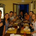 Group meal after cooking class