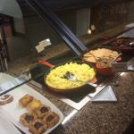 Just a small sampling of the wide array of complimentary breakfast food items.