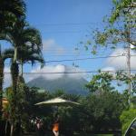 Arenal volcano seen from the grounds