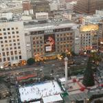 View of Union Square from teh Hotel 21st floor