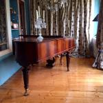 Gorgeous mid 19th century piano room with balcony overlooking the Oosterpark