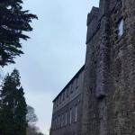 The B&B is a country house built into the ruins of a castle.