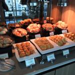 Breakfast buffet at executive lounge