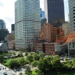 Great view from our room on the 6th floor (Rose Kennedy Greenway).