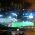 View from my room (over Happy Valley racecourse)