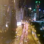 View of traffic from my room