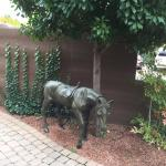 Statue on property