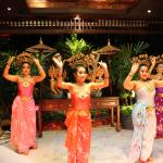 Thai dancing in the dining room
