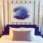 Bed in King room- love Kimpton decor!