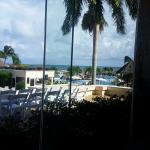 Our restaurant view of the pool