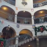 5 story rotunda with spiral staircase.