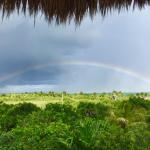 rainbow looking north, from our deck of the Aphrodite suite