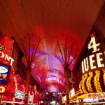 Fremont Street Experience just outside the Golden Nugget