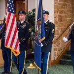Utah National Guards presenting colors (provided by University Guest House Staff)