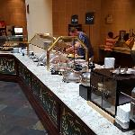Complimentary breakfast buffet, always a plus at Embassy Suites