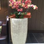 Lovely flower displays throughout the hotel