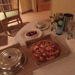 Room Service - Pizza could have fed a family of 4