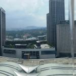 Sentral station and city view