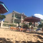 View from the sun lounger towards the resort (Room 801 is in this block!)