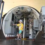 Checking out the inside of a real submarine