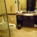 The very well laid out Toilet, with seperate Shower, Tub & Closet, with centrall Wash-had Basin