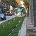 Tram in front of the Hotel