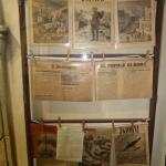 Display of period newspapers