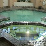 The hot tub (spa) and swimming pool