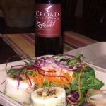 Best Zin with best salad warm goat cheese with potatoes from Bistro Laurent