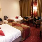 A view of room 302 - a double and single bed for three