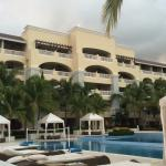 View of our building from the pool area