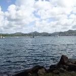 Rodney Bay view with lunch