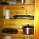 A whole closet full of cooking supplies