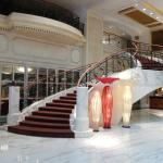 The Stairway in the Hotel Lobby