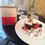Special birthday treat from the hotel