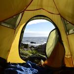 The view I had from my tent on the beach
