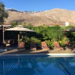 View across pool area to mountains!