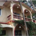 The exterior of the guesthouse
