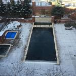 View of pool and hot tubs-pool was heated